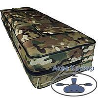 Мягкая накладка 710х200х100 мм на сиденье надувной лодки, цвет камуфляж, фото 1