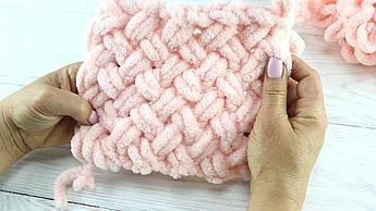 Как вязать руками из пряжи Ализе Пуффи
