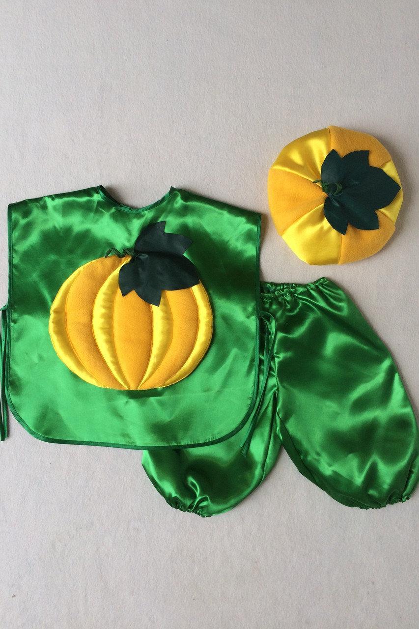 Детский карнавальный костюм Bonita Тыква №1 95 - 110 см Желто - зеленый
