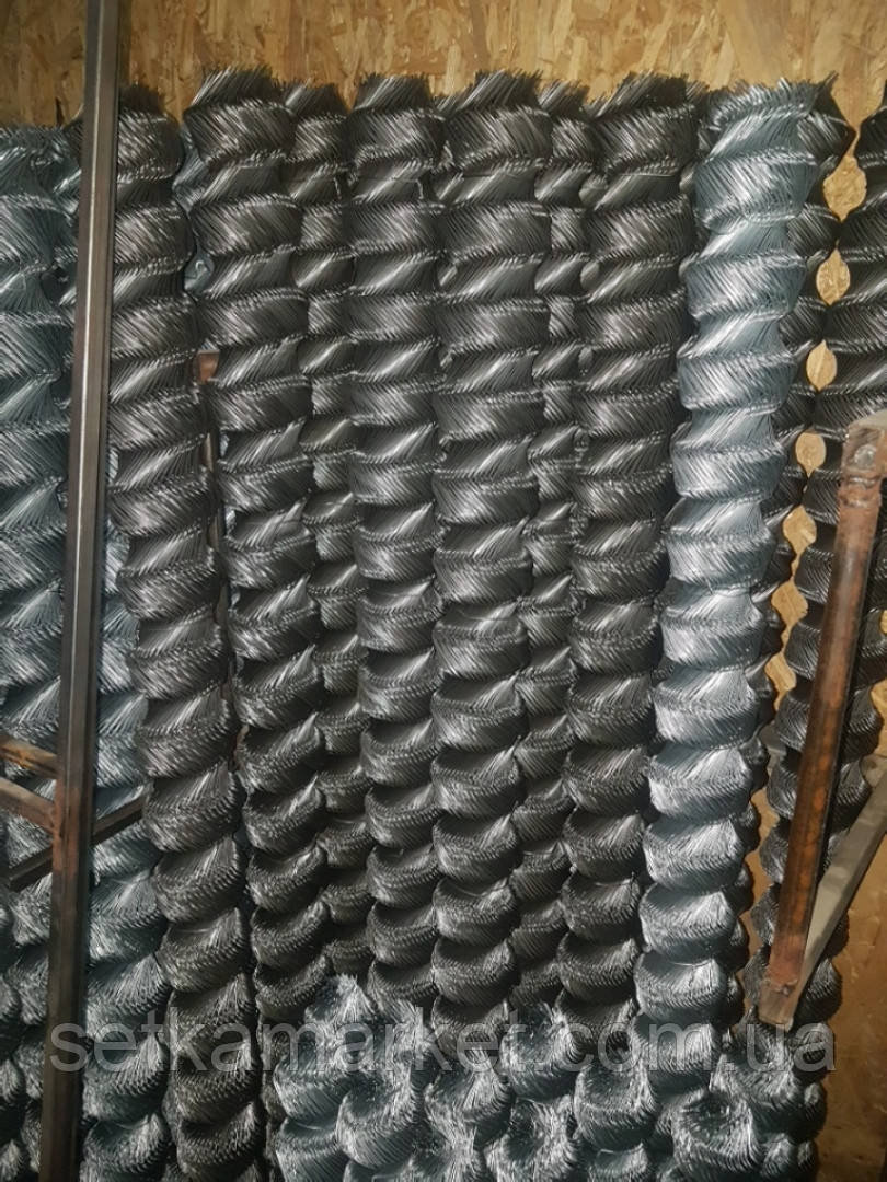 Сітка Рабиця, Осередок 60х60, Діаметр 1.8, 1 Рулон.8х10 Чорна