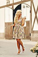 Коктейлное женское платье из коттона размеры 42,44,46,50