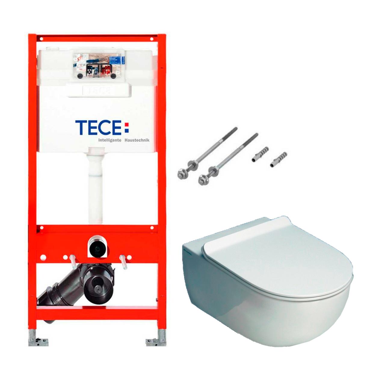 Установочный модуль TECE base 3 в 1 без клавиши + унитаз Flaminia APP Goclean Slim