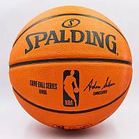 М'яч баскетбольний гумовий №7 SPALDING NBA Outdoor (помаранчевий), фото 1
