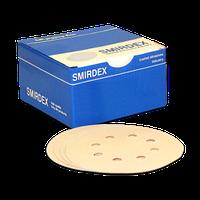 Наждачный круг Smirdex 125 мм (8 отверстий) для сухой шлифовки