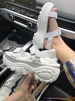 Сандали женские Buffalo London Sandals White (сандалі жіночі). ТОП КАЧЕСТВО !!! Реплика