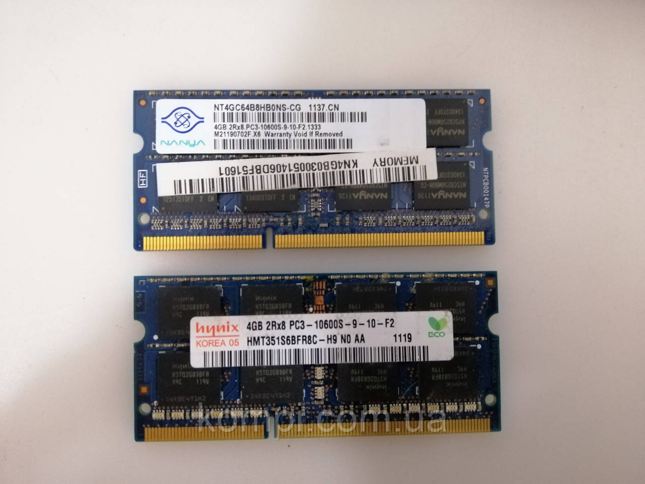 Оперативна пам'ять DDR3 4Gb 1333Mhz/PC10600 SODIMM