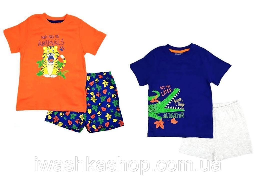 Комплектом две хлопковые летние пижамы на мальчика 3 - 4 лет, р. 104, Primark