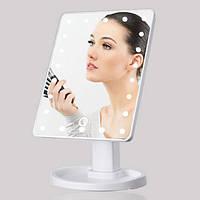 Зеркало с подсветкой для макияжа Led mirror, Настольное зеркало для макияжа, Зеркало косметическое