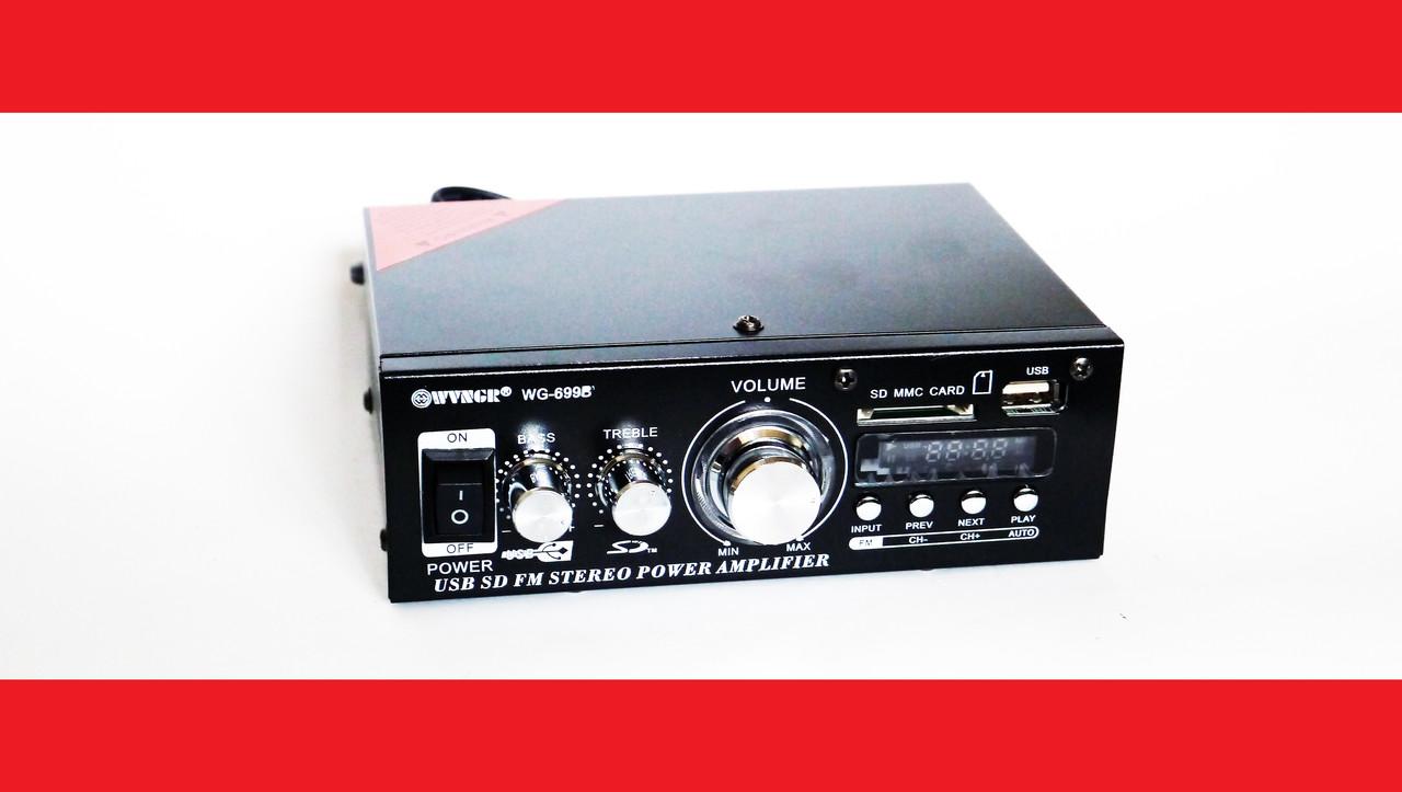 Підсилювач WVNGR WG-699BT USB Блютуз 300W+300W 2х канальний