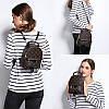 Рюкзак женский Virginia мини коричневый, фото 6