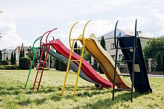 Детская горка 2,2м с металлической лестницей высота 1,2 м (разные цвета), фото 3
