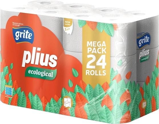 Туалетний папір Grite Ecological Plius 24 рул 3 слоя 14,85 м