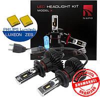 Автомобильные светодиодные лампы «Napo» LED (H7)(6500K)(6000lm)(25W)(12-24V)