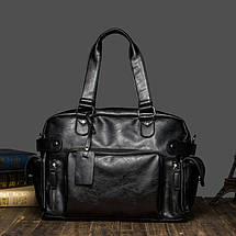 Дорожная сумка мужская BritBag MS черная, фото 2