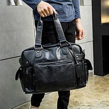 Дорожная сумка мужская BritBag MS черная, фото 3