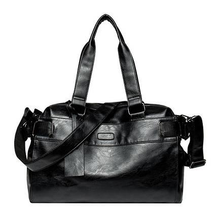 Дорожная сумка мужская BritBag DZ черная, фото 2