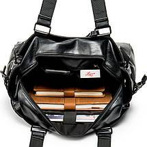 Дорожная сумка мужская BritBag DZ черная, фото 3