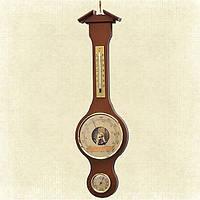 Настенный термометр-барометр-гигрометр Moller 203905, в шикарном деревянном корпусе, украшение интерьера