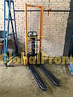 Штабелер ручной гидравлический 1 т 1,6 м, фото 5