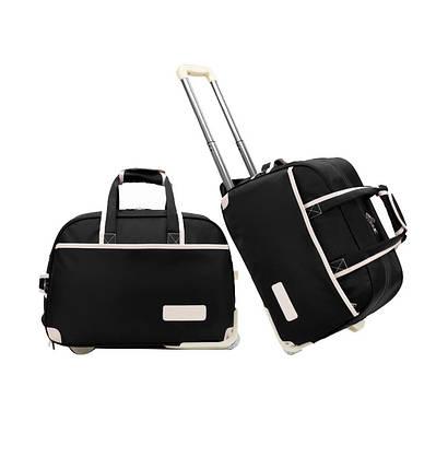 Дорожная сумка женская Sansida NY черная eps-11010, фото 2