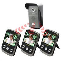 Беспроводный влагозащитный видеодомофон с 3-мя экранами (модель Kivos KDB300х3)
