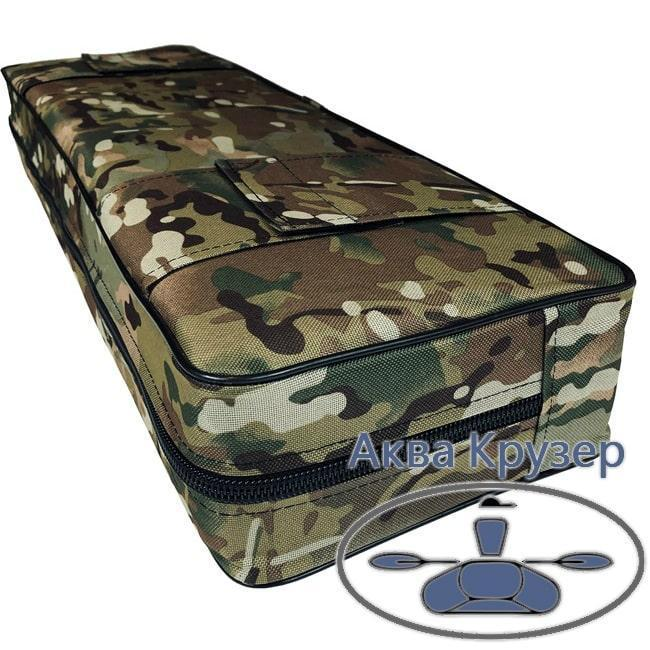 Мягкая накладка 840х200х100 мм на сиденье надувной лодки ПВХ, цвет камуфляж