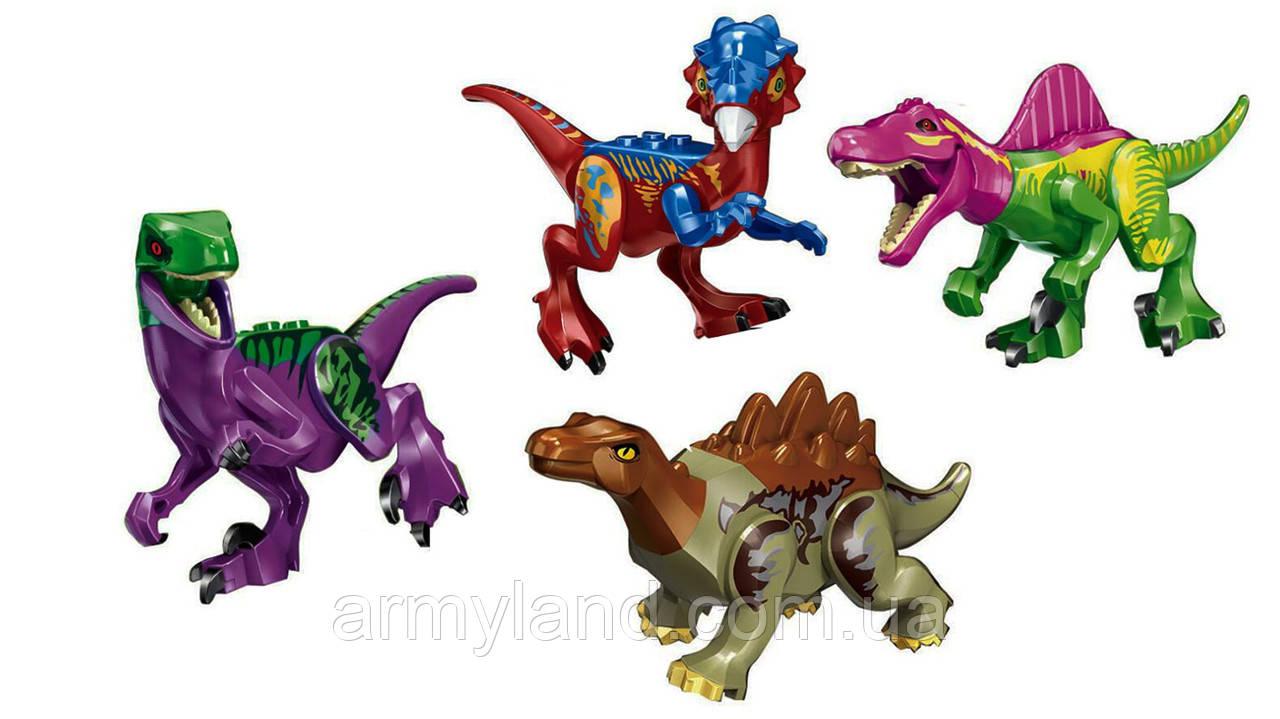 Набор №8 Динозавров 4шт Конструктор, аналог Лего