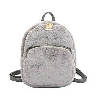 Рюкзак меховой Bobby Crown серый eps-8257