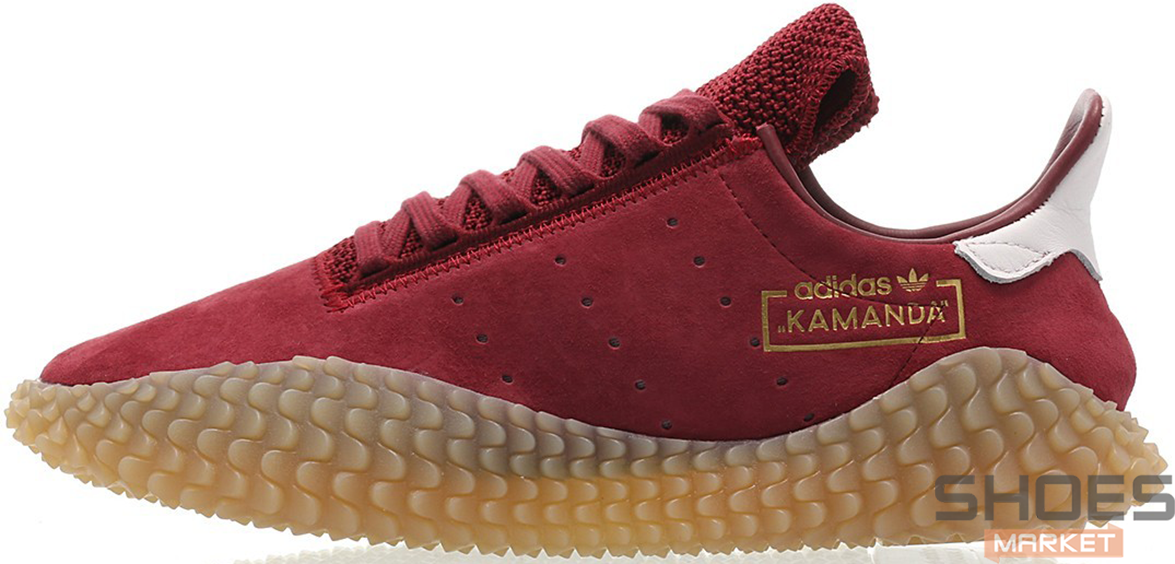 Мужские кроссовки Adidas Kamanda Burgundy/Gum CQ2219, Адидас Каманда