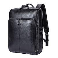 Рюкзак кожаный мужской Texas Classic черный eps-7034