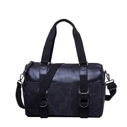 Дорожная сумка мужская Texas Brad черная, фото 2