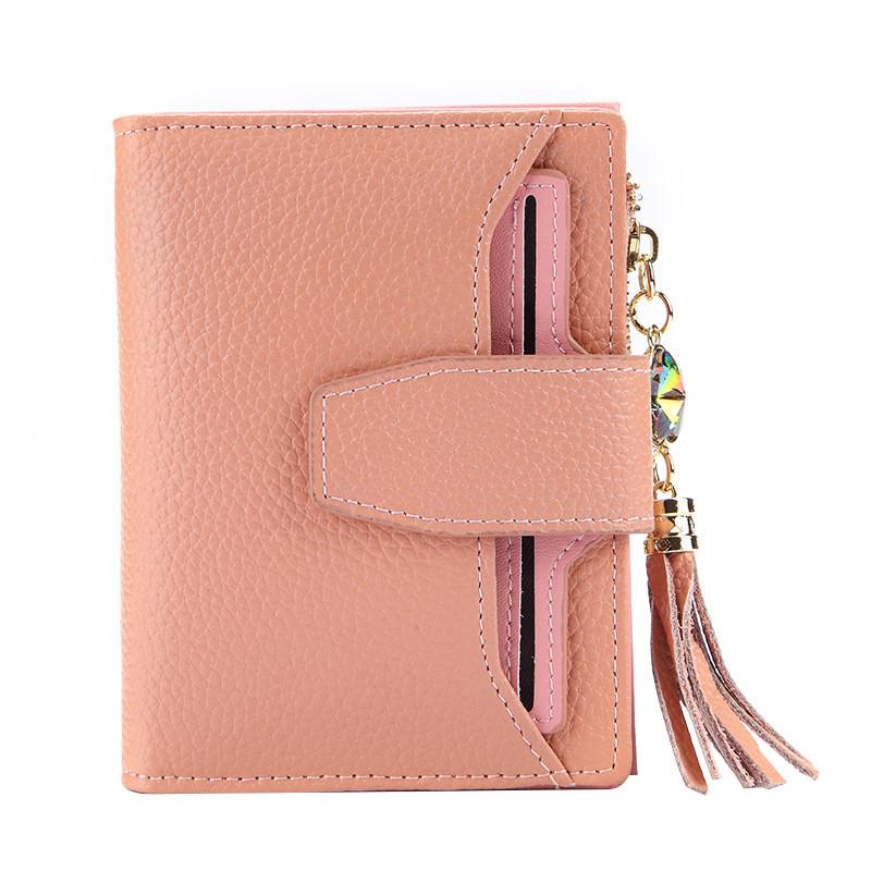 Кошелек женский кожаный Alice розовый eps-4092