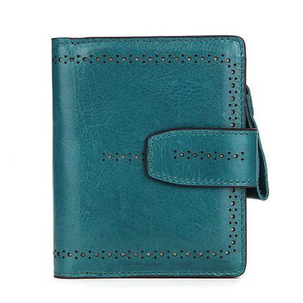 Кошелек женский кожаный Alice 6063 зеленый eps-4096, фото 2
