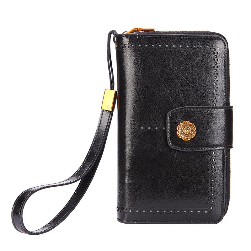 Кошелек женский кожаный Alice S-08 черный eps-4105