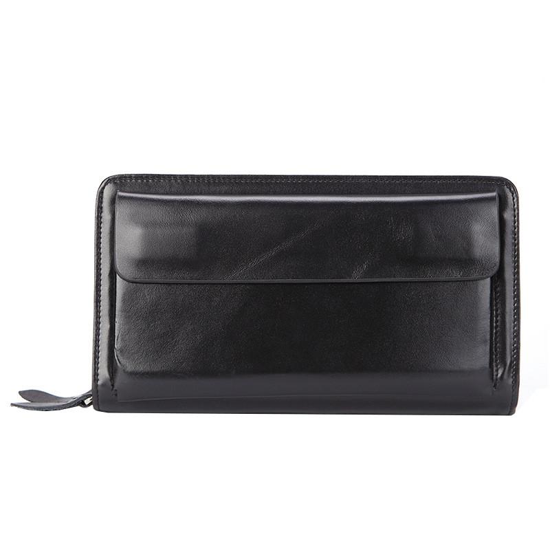 Клатч мужской кожаный James 9069 черный eps-3054