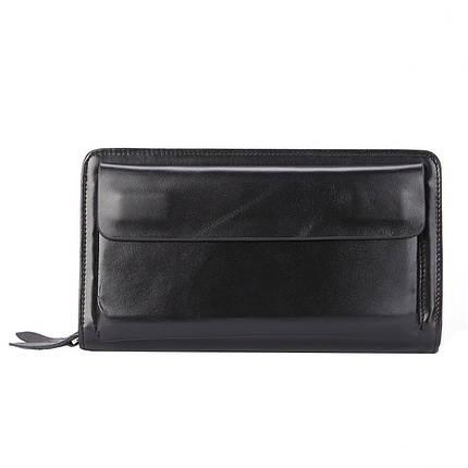 Клатч мужской кожаный James 9069 черный eps-3054, фото 2