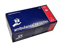 Перчатки синие AMBULANCE PF латексные неопудренные прочные  L RD10091004