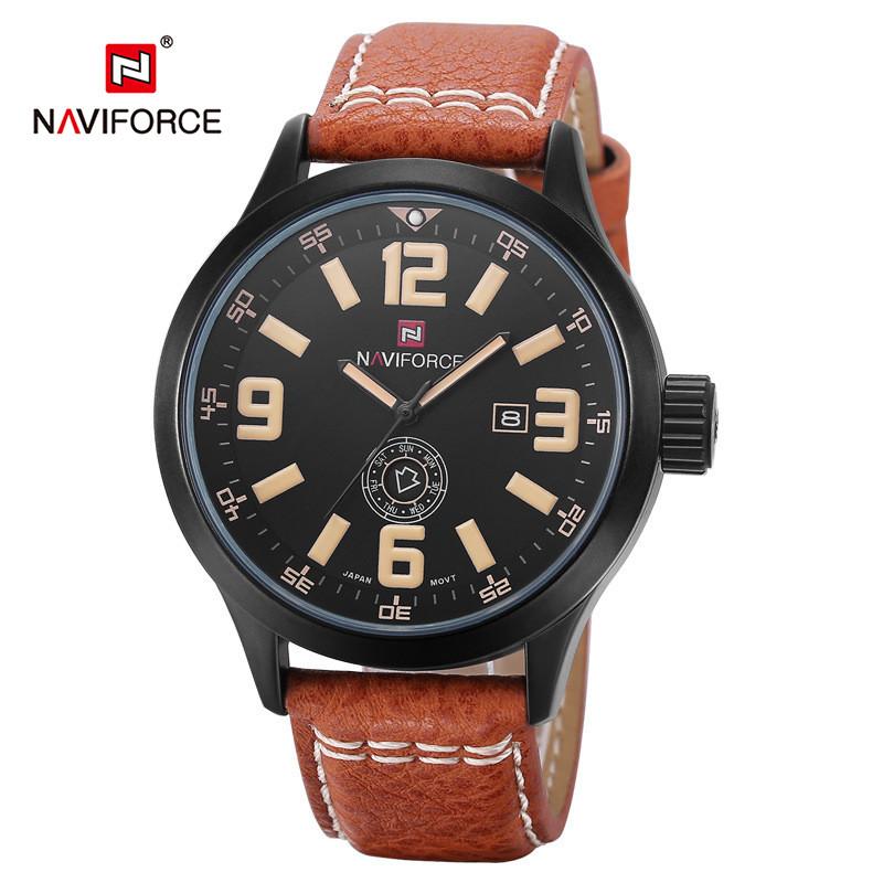 Часы мужские Naviforce NF9057M коричневые eps-1073