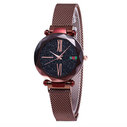 Часы женские Starry Sky Watch Brown eps-2043, фото 2
