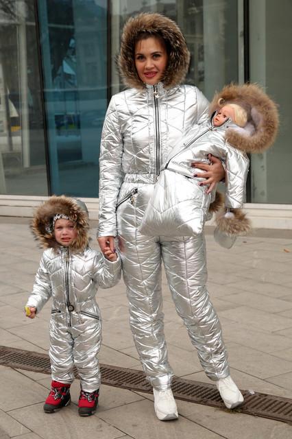 Зимние костюмы и комбинезоны family look
