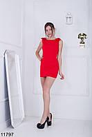 Изящное и лаконичное приталенное платье футляр с бантами на плечах Paris