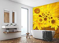 Керамическая фотоплитка Print Color Цветы и листья Подсолнухи