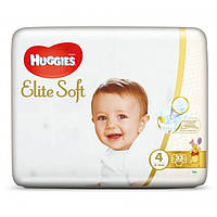 Подгузники Huggies Elite Soft Jumbo 4 (8-14 кг), 33 шт