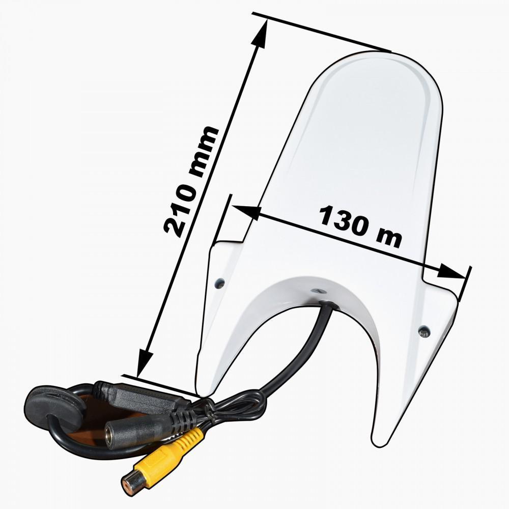 Камера заднего вида Prime-X MCM-10 белая