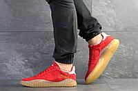 Мужские демисезонные кроссовки Adidas Kamanda, замша, красные, фото 1