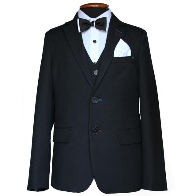 шкільний костюм на хлопчика чорний трійка