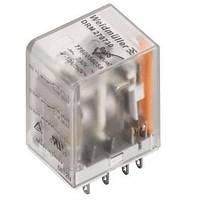 Реле электромагнитное Weidmuller 24V AC, 4CO, LED, test (DRM570524LT)