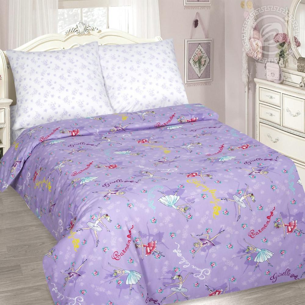 Постельное белье Балерина поплин ТМ Комфорт текстиль (в детскую кроватку)