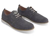 Мужские туфли серого цвета из натуральной кожи!, фото 1