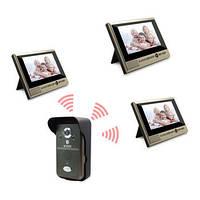 Беспроводный влагозащитный видеодомофон с 3-мя экранами (мод. Kivos KDB700х3) , фото 1